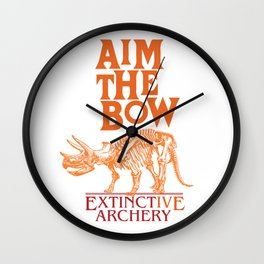 "AIM THE BOW - EXTINCT""IVE"" ARCHERY / 70s RETRO Wall Clock"