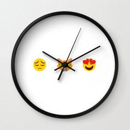 Sad + Cat = Heart Pet Animals Kitten Design Fountain Puntastic Kittie Feline Claw Claws T-shirt Wall Clock
