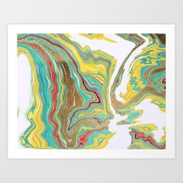Marble liquified design  Art Print