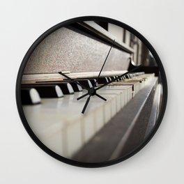 Neglected Piano Wall Clock