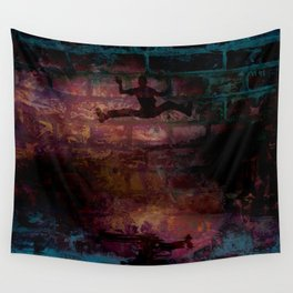 A Lively Silhouette Wall Tapestry