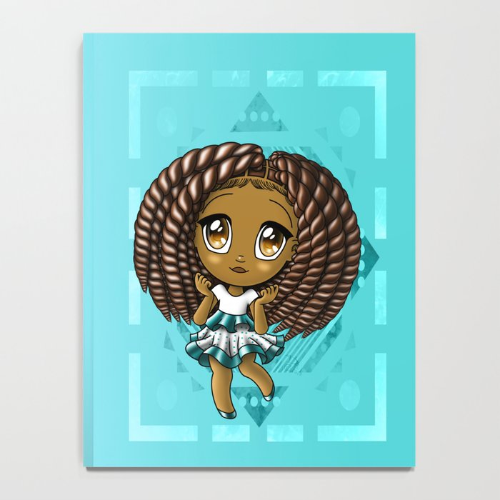 Adorable African American Girl Notebook
