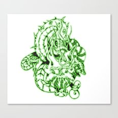 snakes and skulls  Canvas Print