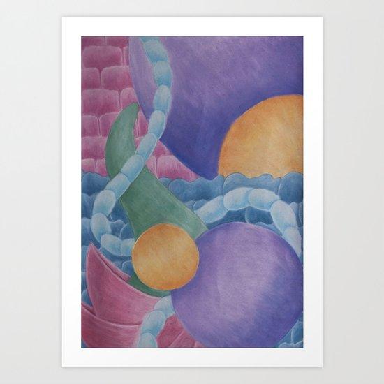 Walking Through Walls Art Print