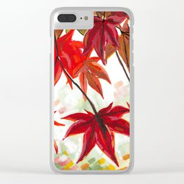 Leaves Painting - Autumn / Fall Art Clear iPhone Case