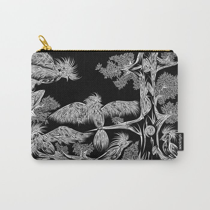 Japanese Birds Inverted Carry-All Pouch