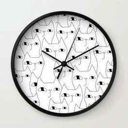 Cat Invasion Wall Clock