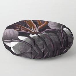 Birds of Paradise : Temple of Flora Dark Floor Pillow
