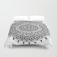 ohm Duvet Covers featuring Ohm Mandala by Sarah Ottino