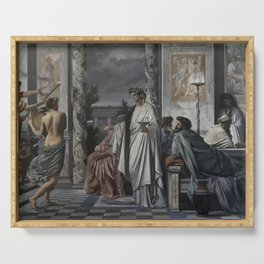 Plato's Symposium by Anselm Feuerbach Serving Tray