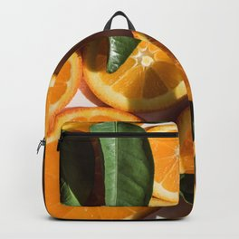 Orange Fruit Pattern Photography Backpack