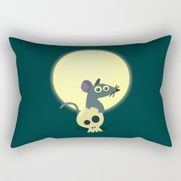 Moon Rat Rectangular Pillow