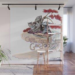 Cats in My Zen Garden Wall Mural