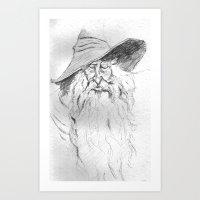 wizard Art Prints featuring Wizard by Michael Joseph Peraino