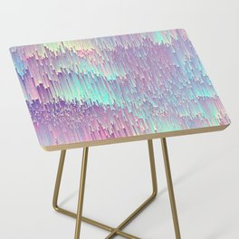 Iridescent Glitches Side Table