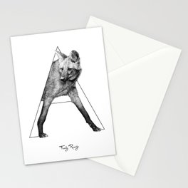 A - maned wolf Stationery Cards