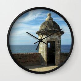 Puerto Rico Fort Wall Clock