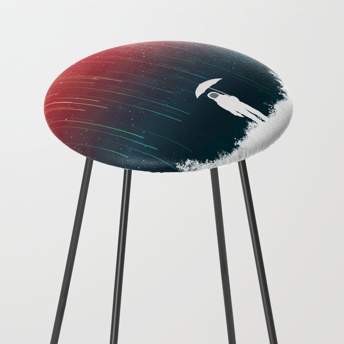 Meteoric rainfall Counter Stool