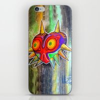 majora iPhone & iPod Skins featuring Majora mask by Lyxy