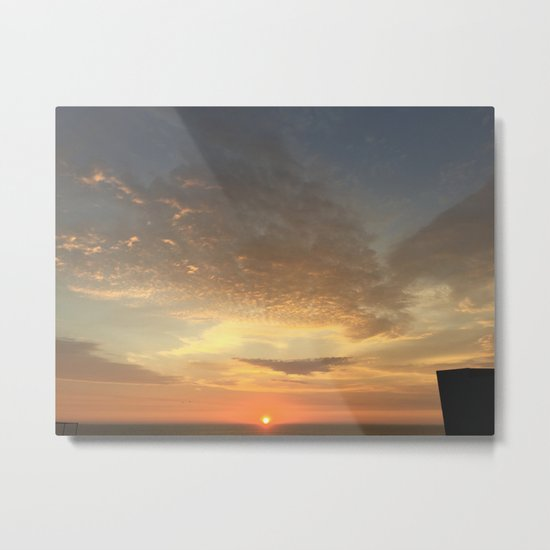 Yellow and Orange Sunset Metal Print