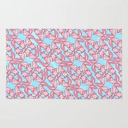 Kawaii Axolotl Pastel Chido Pink Rug