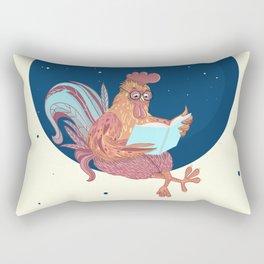 space chicken Rectangular Pillow