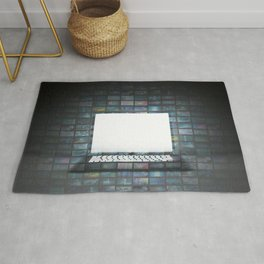Black Friday Sale Copy Space on Glowing Laptop Rug