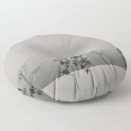 Foggy Forest Landscape  Floor Pillow