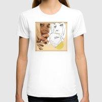 peach T-shirts featuring vintage peach by Cassidy Rae Marietta