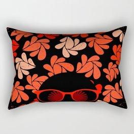Afro Diva : Coral Red Rectangular Pillow