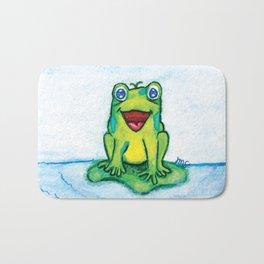 Happy Frog - Watercolor Bath Mat