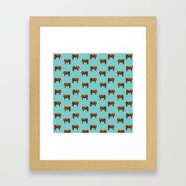 Simmental // Aqua // Sprinkles Framed Art Print