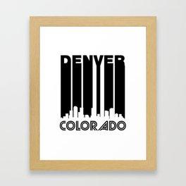 Retro Denver Skyline Framed Art Print