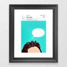 Scrubs Tv books Framed Art Print