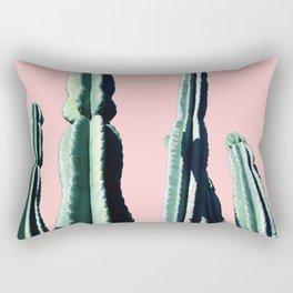 Green Cactus 9 in Pink Rectangular Pillow