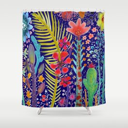 in the migthy jungle Shower Curtain