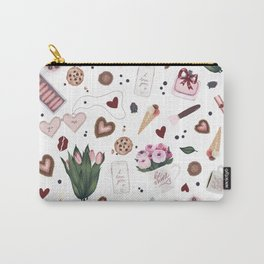 Hand Drawn Valentine Pattern Carry-All Pouch