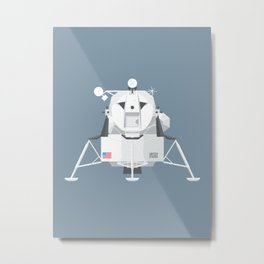 Apollo Lunar Lander Module - Slate Metal Print