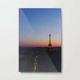 Eiffel Tower By Sunset Metal Print