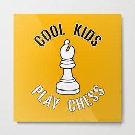 Cool Kids Play Chess Bishop Piece - Cool Chess Club Gift Metal Print