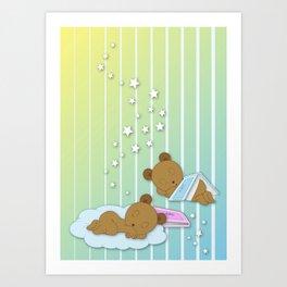Sleepy Babies Art Print