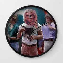 Chewbacca Wookie Dazed And Confused Mash-Up Wall Clock