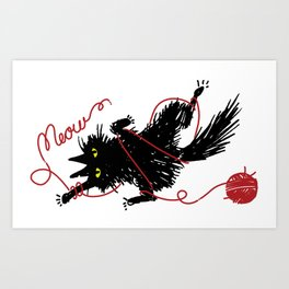 Vevekojotl playing with red clew Art Print