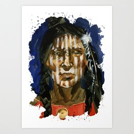 Injun Art Print