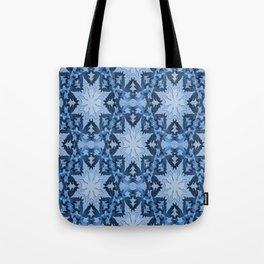 Icy blue snowflakes... Tote Bag