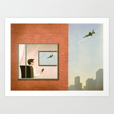 War is Closer Than You Think Art Print