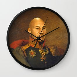 Sir Patrick Stewart - replaceface Wall Clock