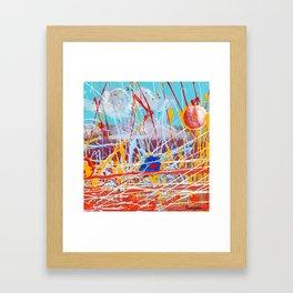 Action Landscape Framed Art Print