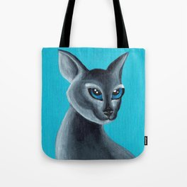 Big Blue Eyes Tote Bag