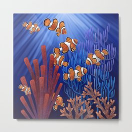 Clown Fish tank Metal Print
